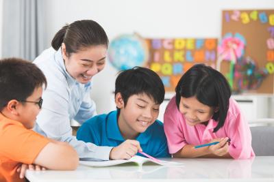 kids having a a class